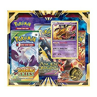 POKEMON Giratina 3pk Blister 3 Booster Packs & Coin POGIB3PK Tracing Card Game