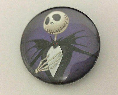 NIGHTMARE BEFORE CHRISTMAS 1.5-inch BADGE Button Pin Jack Purple OFFICIAL NBX