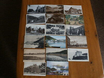 17 Vintage/Antique Postcards of Scotland - Various Locations - Used/Unused
