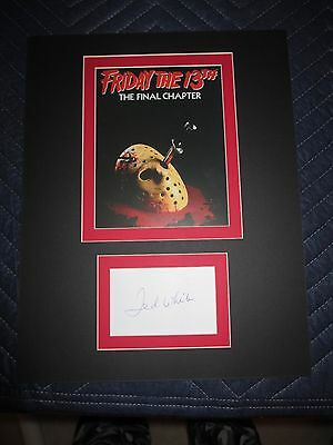 Friday The 13th The Final Chapter Ted White Autograph