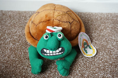 Rare Collectable 1993 Frank The Tortoise, Creature Comforts Plush Soft Toy