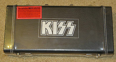 Kiss Definitive Collection Guitar Case 5 Cd Box Set Sealed