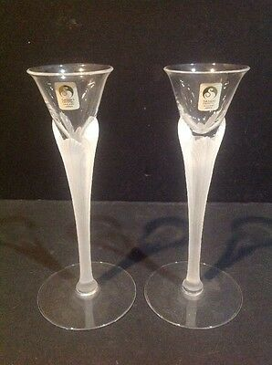 Sasaki Aegean Frost Candlestick Clear Frost Stem