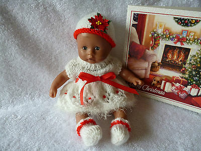 """7.5"""" Berenguer/8"""" Circo soft bodied doll KNITTED set"""
