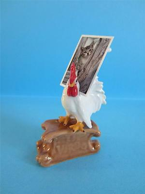 NEW 2017 ROOSTER CARD HOLDER FIGURINE REALLY CUTE, PERFECT FOR WEDDING *Mint*