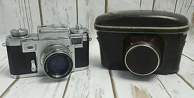 ZEISS IKON CONTAX IIIa CAMERA ZEISS JENA SONNAR 1:2 f=50mm with case. Vintage.