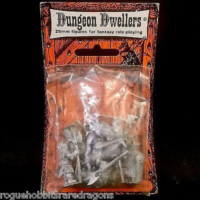 RARE Dungeon Dwellers Rieder Design Fantasy Blister 1980s BNIB RPG AD&D 25mm