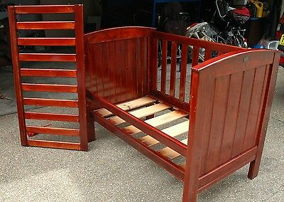 Boori Cot 3 in 1 Convertible to Junior Bed & Lounge Almost NEW