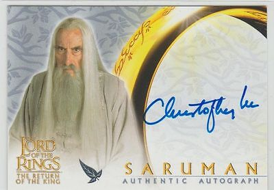 LOTR autograph AUTO Return of the King CHRISTOPHER LEE auto SARUMAN SIGNED