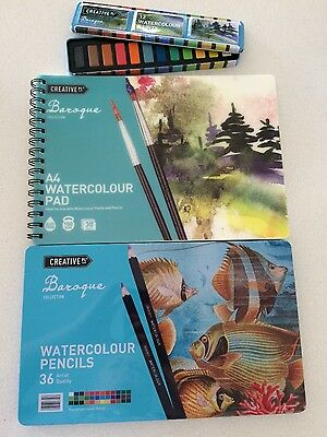 Watercolour Pencils, Paint and Paper set