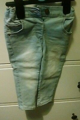 George Baby Girl Stretchy Skinny Jeans Size 1 to 1 and 1/2