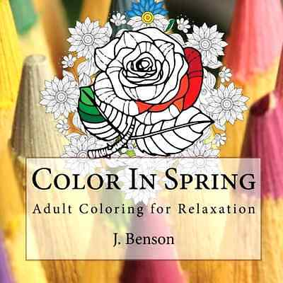 Coloring Book For Adults Beautiful Flower Patterns Stress Relief Therapy Fun NEW