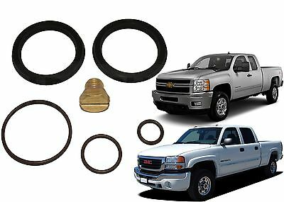 Primer Fuel Filter Seal Rebuild Kit & Bleeder Screw for 2001-2010 GM Duramax New