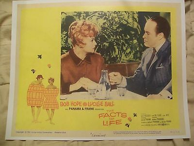 """Bob Hope, Lucille Ball """"THE FACTS OF LIFE"""" Lobby card #2"""