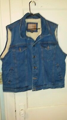 "Men's "" Canyon Guide Outfitters "" Lined Denim Vest Size 2XL"