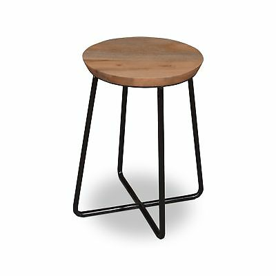 Solid Wood Timber Industrial Vintage Scandinavian Retro Side Table Step Stool 79