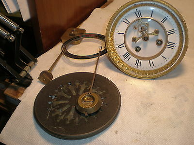 "Antique-French-""Marti"" Clock Movement-Ca.1890-To Restore-#N280"