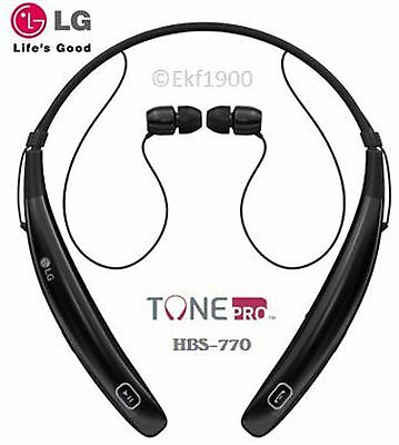 NEW Genuine LG TONE PRO Wireless Stereo Headset HBS-770 BLACK