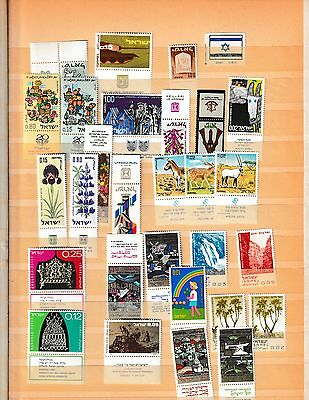Isreal collection ,tabs, Mint,  Used 5 scans
