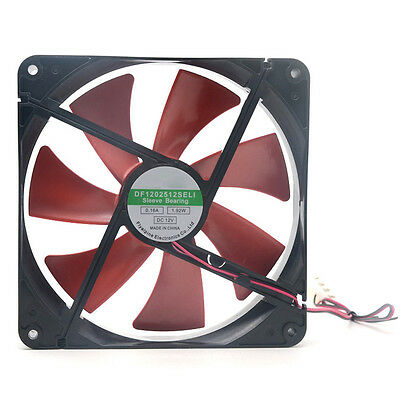 Silent Quiet 140mm PC Case Cooling Fans 14cm DC 12V 4D Plug Computer Cooler .