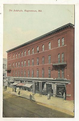 The Baldwin Hotel HAGERSTOWN MD Vintage 1911 Maryland Postcard