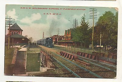 Millionaires Express CRR Central Railroad of New Jersey PLAINFIELD NJ Depot PC