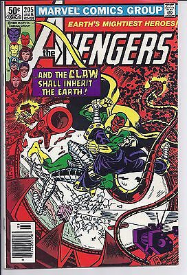 The Avengers #205 (Mar 1981, Marvel) VF condition