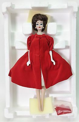 Barbie Porcelain Treasures Collection Silken Flame 1962 New