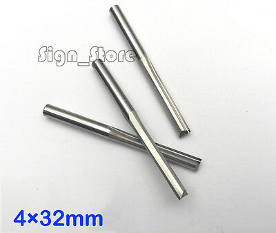 10pcs CNC Router Wood MDF Double Flute Straight Slot Cutting Bit  4mm * 32mm