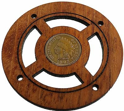 Indian Head Penny Vintage Coin Sound Hole Cover for Cigar Box Guitars 32-184-01