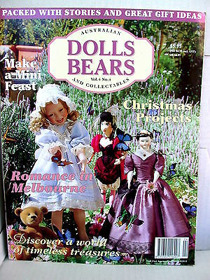 DOLLS BEARS  & COLLECTABLES  techniques patterns clothes tips ideas VOL 4  NO 4