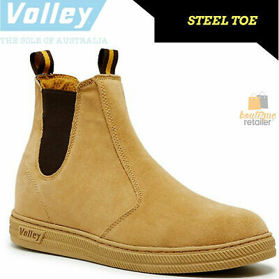 DUNLOP VOLLEYS Steel Cap Toe Safety PULL ON BOOTS Volley Original Work Trade