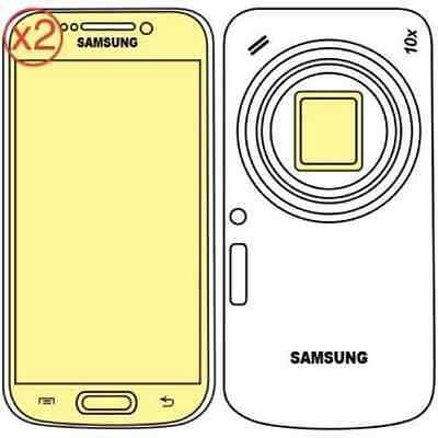 Martin Fields Overlay Plus Screen Protector Samsung Galaxy K Zoom Twin Pack -