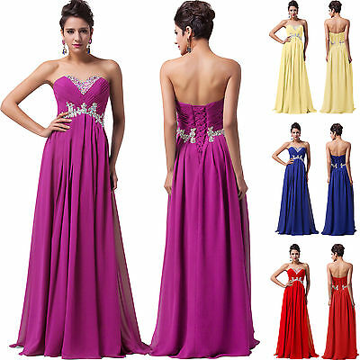 Crazy Sale ! Bridesmaid Dress Long Maxi Evening Prom Cocktail Formal Gown Party