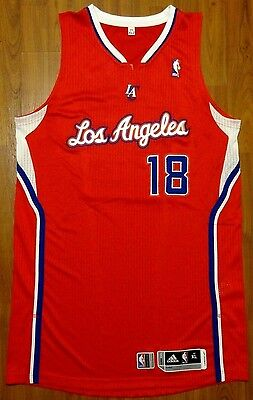 "Authentic Adidas 2014 Sasha Vujacic  La Clippers Bench Used Jersey Xl +2"" Nba"