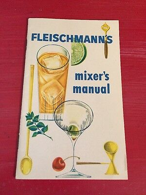 Vintage Fleischmann's Mixer's Manual Cocktails Drinks Bar ware