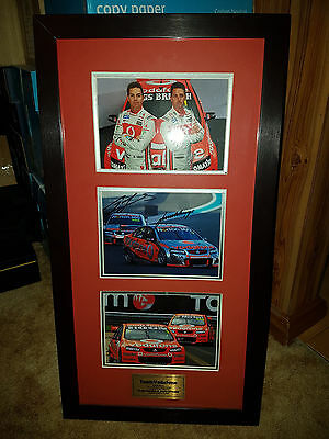 Team Vodafone Craig Lowndes Jamie Whincup Holden Signed Limited Edition Frame