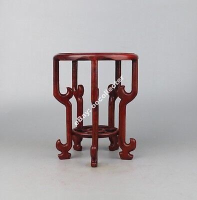 new red suan-zhi wood rosewood China carved 5-leg style stand shelf display