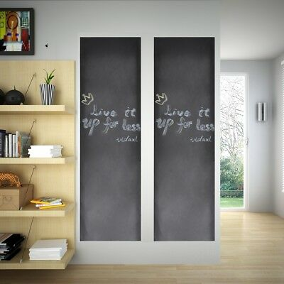 # New 60x200cm Black Plain Blackboard Wall Sticker Draw Decor Mural Decals Chalk