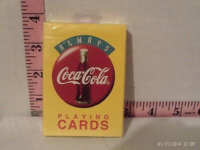 1994 Always Coca Cola Yellow Playing Cards Unopened