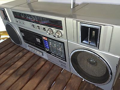 National RX C39 stereo radio cassette recorder fully working Vintage Boombox Rca