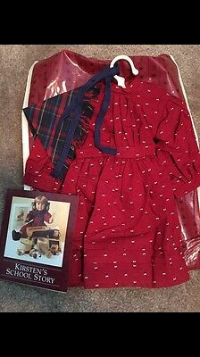 American Girl PC Kirsten's Complete School Outfit, & PC Pamphlet RETIRED