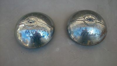 1936 Chev Master hubcaps