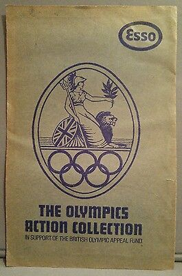 Vintage Esso The Olympics Action Collection Very Rare Unopened Sticker/stamp Env