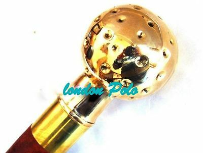 Antique Style Nautical Brass Foot Ball Design Handle Walking Canes-Vintage Canes