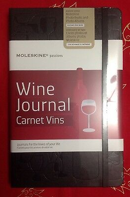 Moleskine Passions Wine Journal (13cm x 21cm) Brand New And Sealed.