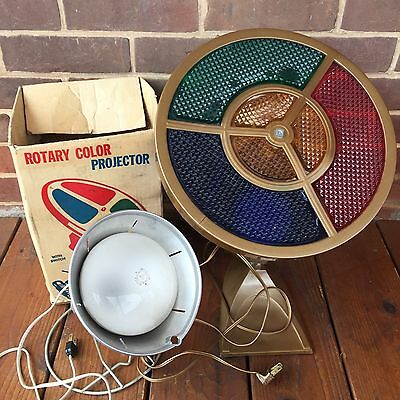 Lot: 2 Vintage Color Wheels Rotating Color Changing Lights Christmas Working