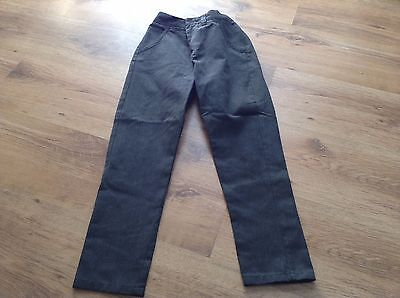 Grey Slim Fit School Trousers With Adj Waist - From Next - Size 10 Years