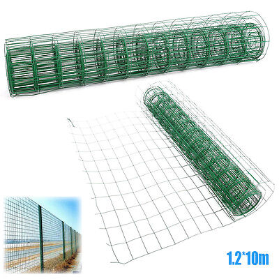 1.2*10M PVC Coated Mesh Wire Garden Galvanised Fence Net for Chain Link Fencing