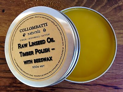 ��Raw Linseed Oil & Beeswax Timber Polish - All Natural - Australian Made��